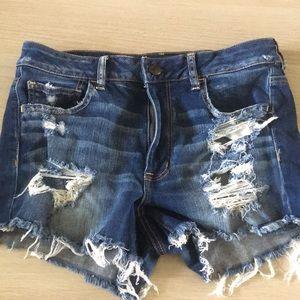 high-rise shortie AE jean shorts
